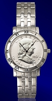 Ben Franklin Half Dollar Mens Bracelet Coin Watch C115-BF1-1