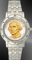 Presidential Dollar Saratoga Mens Bracelet Coin Watch C115-P02-1