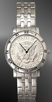 Presidential Seal Half Dollar Mens Bracelet Coin Watch C115-PS1-1