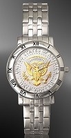 Presidential Seal Half Dollar Mens Bracelet Coin Watch C115-PS2-1