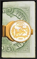 50 States Quarter Featherweight Gold Plated Money Clip C243-QUS2