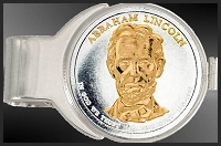 Lincoln Presidential Dollar Nickel Money Clip C277-P162
