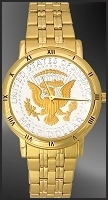 Presidential Seal Mens Bracelet Coin Watch C335-PS2-3