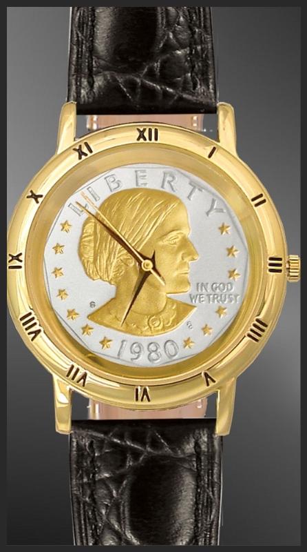 Susan B Anthony Dollar Mens Strap Coin Watch C335 Sba2 0