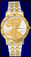 Walking Liberty Mens Bracelet Coin Watch C335-WL2-2