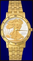 Walking Liberty Mens Bracelet Coin Watch C335-WL2-3