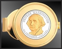 Washington Presidential Dollar Money Clip C373-P012