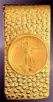 10 Dollar Gold Eagle Coin 14K Nugget Money Clip CNG8-10E