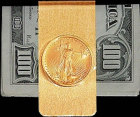 10 Dollar Gold Piece 14K Solid Gold Money Clip CBR8-10E