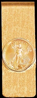 5 Dollar Gold Eagle 14K Solid Gold Money Clip CBR8-5E