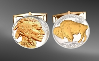 Buffalo Nickel Cuff Links CL6-NB2IN2