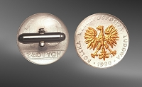 Eagle Coin (Poland) Sterling Silver Cuff Links CLB5-FPO2