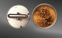 Italy 20 Lire Sterling Silver Cuff Links CLB52-FIT