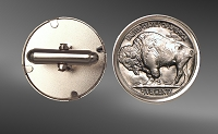 Buffalo Nickels Sterling Silver Cuff Links CLB52-NB