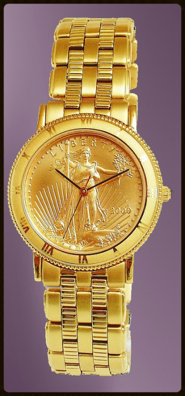 coinwatch brand mens solid gold eagle coin uc333 ae25 3
