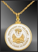 Army Medallion Necklace NCM6-MAR2-20B6