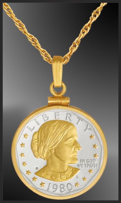 Susan B Anthony Dollar Necklace Ncm6 Sba2 20b3