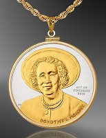 African American History Medallion Necklace NCM6-AAH2-24D6