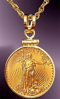 5 Dollar Gold Eagle Coin Necklace NCM8-5E-20B8