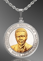 African American History Medallion Diamond Cut Necklace NDC5-AAH2-24C5