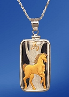 PAMP Horse 10g Fine Proof Silver Bar AureTone Necklace NPCM5-H102-20DC5
