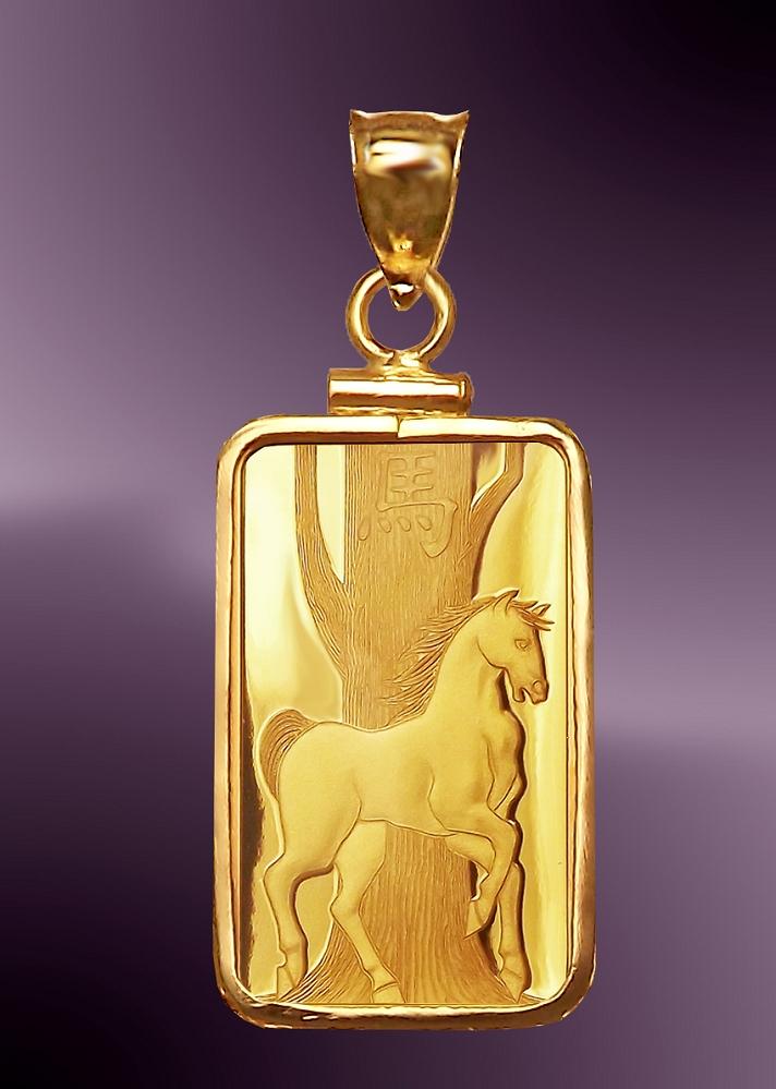 Pamp horse 5g 999 fine gold bar pendant pcm8 h058 aloadofball Gallery