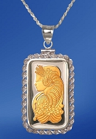 PAMP Fortuna 10g Fine Proof Silver Bar AureTone Rope Necklace NPRR5-F102-20DC5