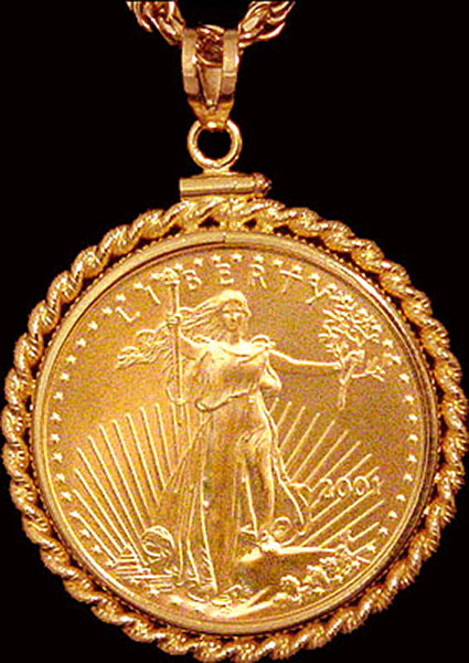 25 dollar gold eagle coin necklace nrm8 25e 24c8