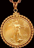 25 Dollar Gold Eagle Coin Necklace NRM8-25E-24C8
