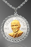 African American History Medallion Necklace NRR5-AAH2-24C5