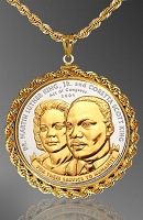 African American History Medallion Necklace NRR6-AAH2-24D6