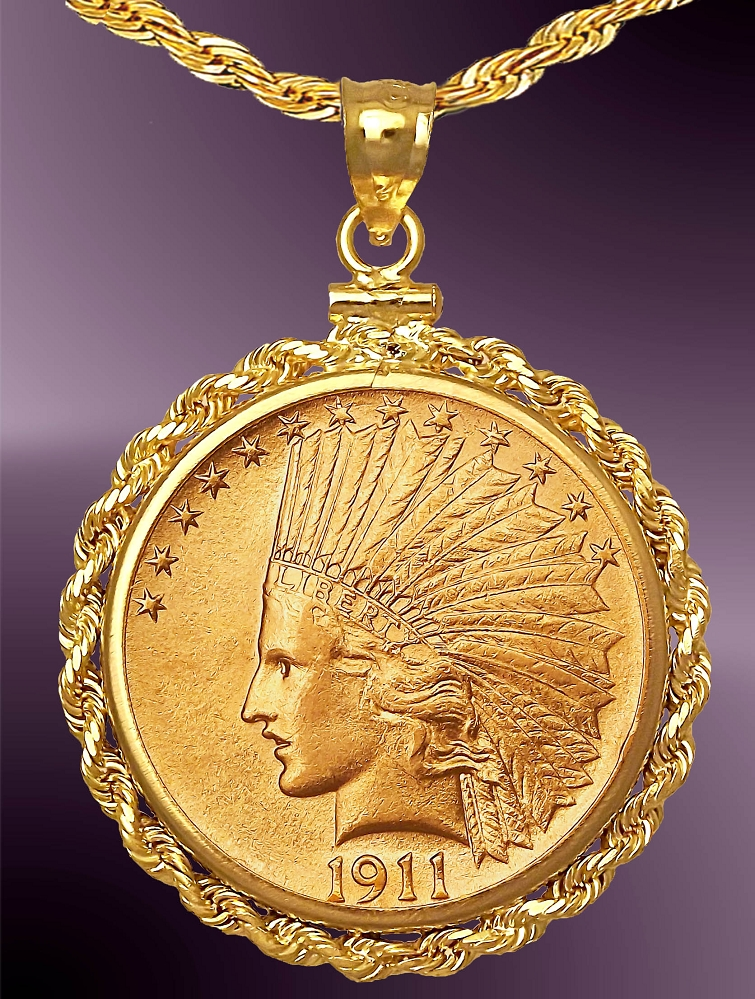 Dollar indian head gold coin necklace nrr8 de10 24c8 10 dollar indian head gold coin necklace nrr8 de10 24c8 aloadofball Image collections