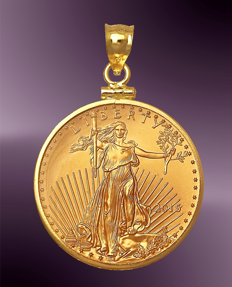 products gold liberty spicyice necklace inspired pendant coin
