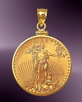25 Dollar Gold Eagle Coin Pendant PCM8-25E