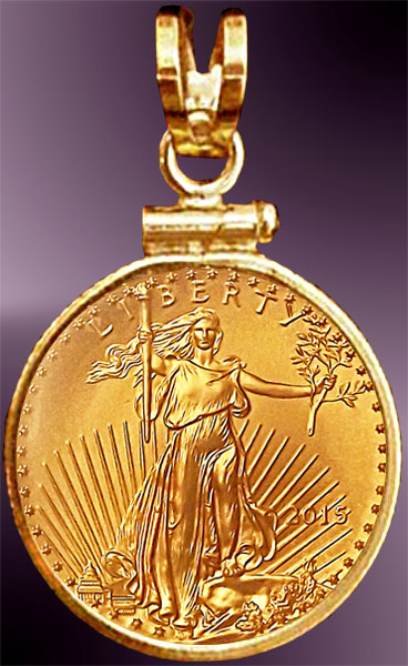 Dollar american eagle gold coin pendant pcm8 5e 5 dollar american eagle gold coin pendant pcm8 5e aloadofball Image collections