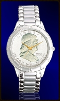 Ben Franklin Half Dollar Mens Bracelet Coin Watch R111-BF1-1