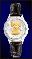 Liberty Bell Half Dollar Ladies Strap Coin Watch R111-NLB2-L0