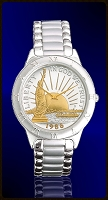 Statue of Liberty Half Dollar Mens Bracelet Coin Watch R111-NSL2-1