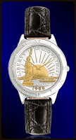Statue of Liberty Half Dollar Mens Strap Coin Watch R111-NSL2-0