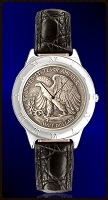 Walking Eagle Half Dollar Mens Strap Coin Watch R111-WE9-0