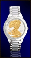 Walking Liberty Half Dollar Mens Bracelet Coin Watch R111-WL2-1