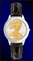 Walking Liberty Half Dollar Mens Strap Coin Watch R111-WL2-0