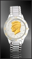 JFK Half Dollar Mens Bracelet Coin Watch R113-JFK2-1