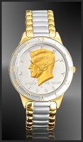 JFK Half Dollar Mens Bracelet Coin Watch R323-JFK2-2