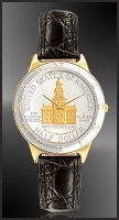 Independence Hall Half Dollar Mens Strap Coin Watch R323-NIH2-0