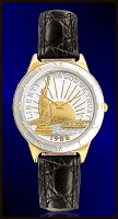 Statue of Liberty Half Dollar Mens Strap Coin Watch R323-NSL2-0