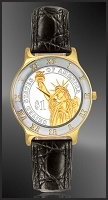 Statue of Liberty Dollar Ladies Strap Coin Watch R323-PSL2-L0