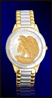 Walking Eagle Half Dollar Mens Bracelet Coin Watch R323-WE2-2