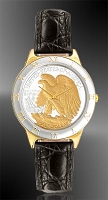 Walking Eagle Half Dollar Mens Strap Coin Watch R323-WE2-0