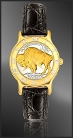 Buffalo Nickel Ladies Strap Coin Watch R331-FNB2-0